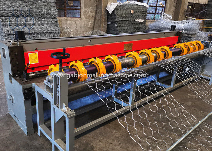 5000MM Gabion Box Production Line for For 88x125mm Gabion Mesh With Servo Motor