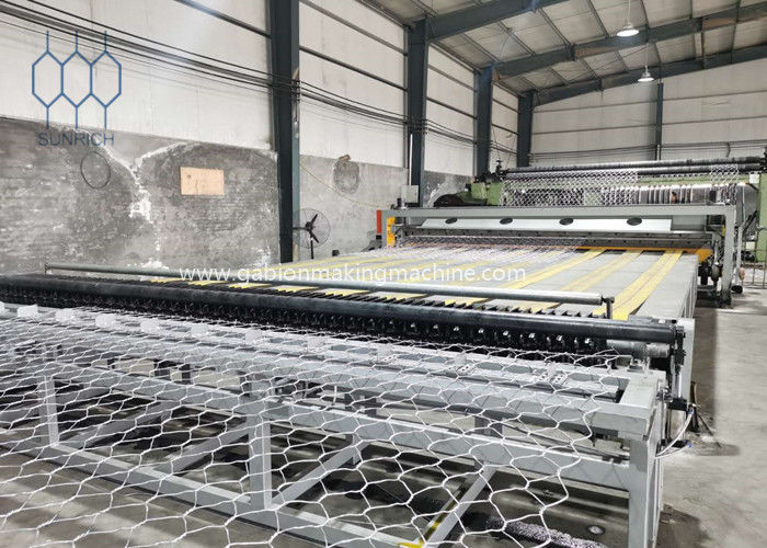 100x120mm Automatic Gabion Production Line For 4500mm Width Gabion Mesh Sheet